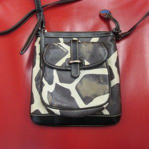 Dooney and Bourke Giraffe Print Leather Purse